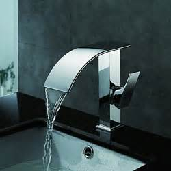 modern bathroom sinks and faucets contemporary waterfall bathroom sink faucet chrome finish