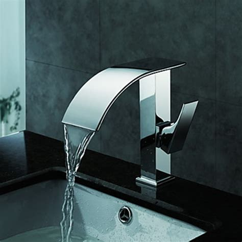 Bathroom Sinks And Faucets Contemporary Waterfall Bathroom Sink Faucet Chrome Finish
