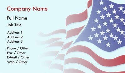 Business Card Templates American Flag Free Patriotic Business Card Templates
