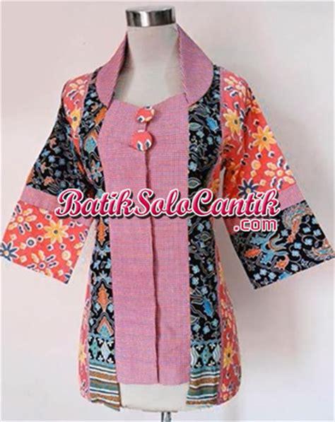 Hem Batik Pekalongan Motif Sogan Kemeja Atasan batik modern alia s 06 model baju kerja lengan panjang