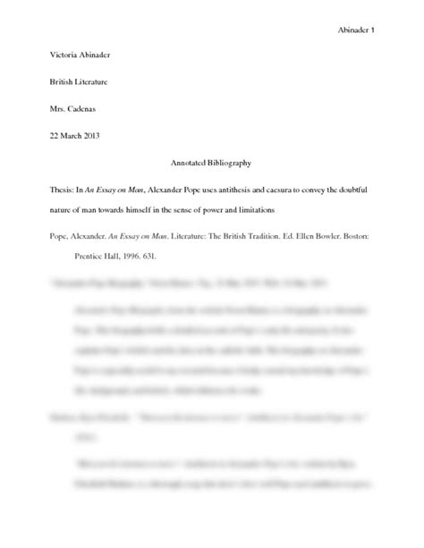 Pope Essay by Essay On