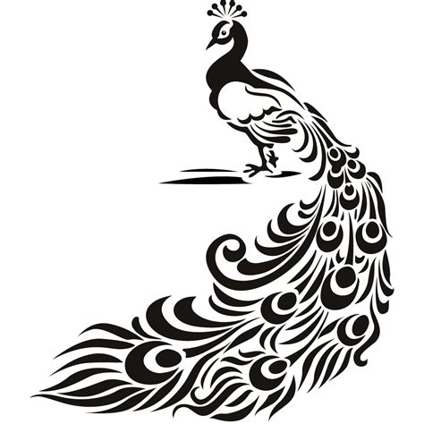Peacock Feather Wall Sticker free peacocks large drawings coloring pages