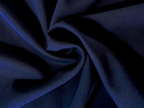 Pria Stretch Blue Navy Navy Blue Poly Wool Blend Stretch Gabardine Woven Fabric 3