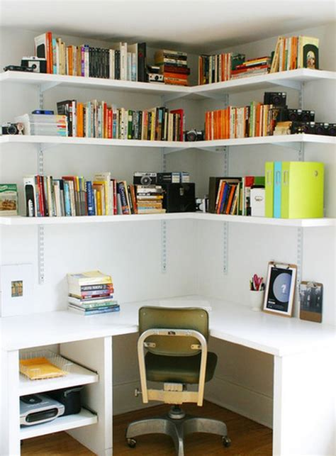 Office Desk Shelves How To Make The Most Of A Small Corner Desk