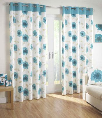 this cool and tranquil design features a teal top border with a two toned poppy motif and soft