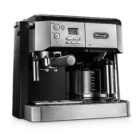 bed bath and beyond espresso de longhi combination espresso drip coffee machine bed