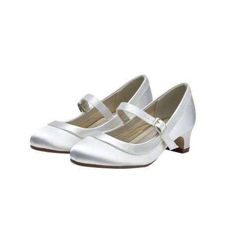 white satin shoes rainbow club maisie white satin bar shoes shoes co uk