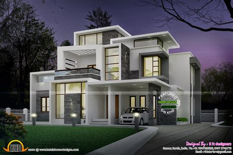 modern home plan grand contemporary home design kerala home design and