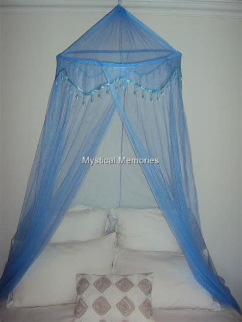 blue bed canopy baby blue beaded mosquito net bed canopy fits cot sgle
