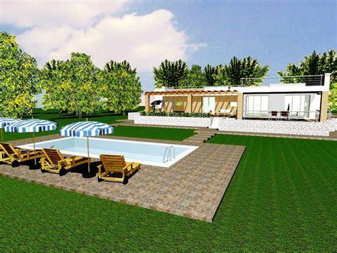 Progetto Villa Con Piscina by Progetto Con Render E Costruzione Di Villa Con Piscina In