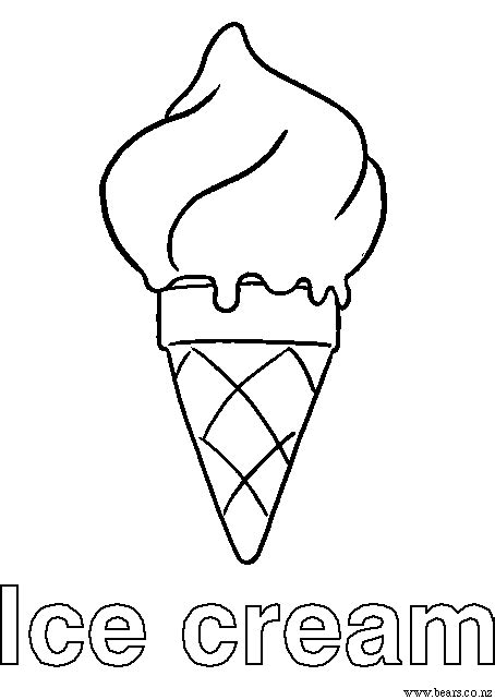 free coloring page ice cream cone free ice cream dream coloring pages