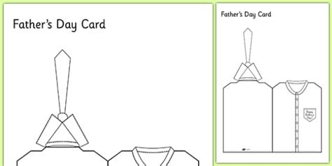 fathers day card template fathers day shirt and tie card card template fathers day card