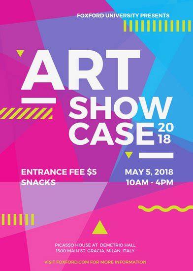 art event flyer templates  canva