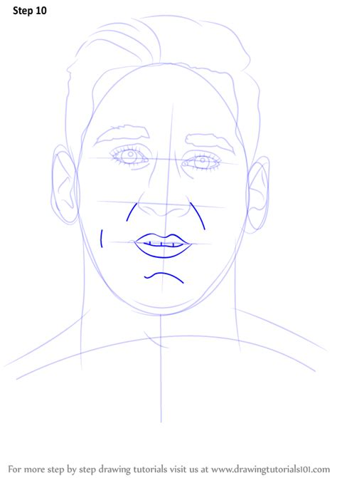 Drawing Step By Step by Step By Step How To Draw Lionel Messi