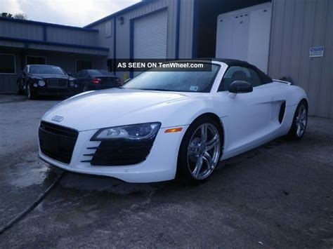 R Title Value by 2011 Audi R8 Convertable Nj Flood Title Up To Seats 20k