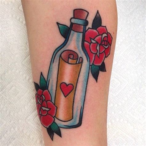 message in a bottle tattoo 229 best images about on traditional
