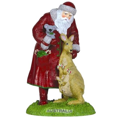 australia santa pipka by precious moments figurine