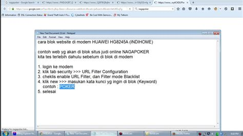 membuka youtube di block block website di modem hg8245a indihome youtube