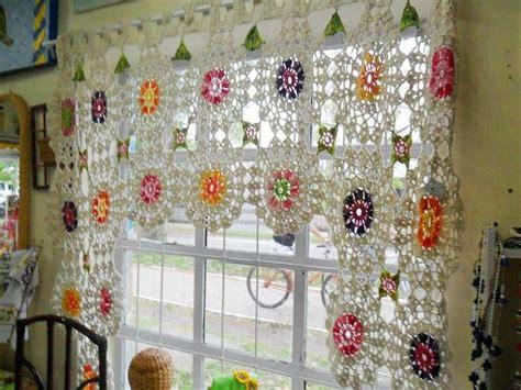 cortina cortinas  visillos de ganchillocrochet pinterest  crochet curtains