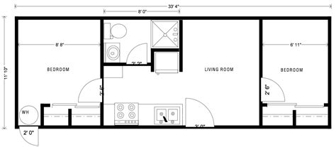 mobile tiny house floor plans portable employee housing little house on the trailer
