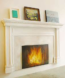 cool idea fireplace painting popsugar home