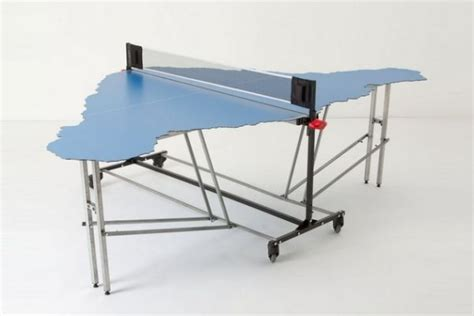 Ping Pong Table Shaped Like Easter Island Neatorama