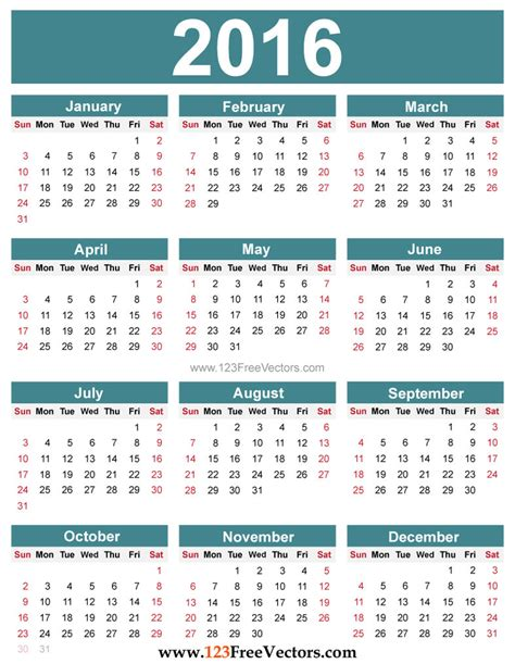 printable calendar you can add text free editable 2016 calendar by 123freevectors on deviantart