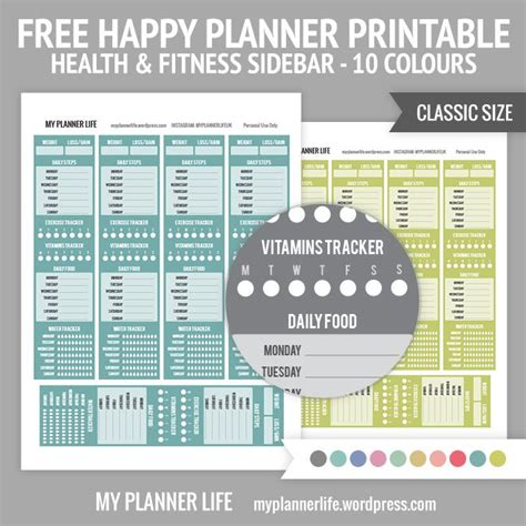 happy healthy life printable planner 384 best images about planners on pinterest planners