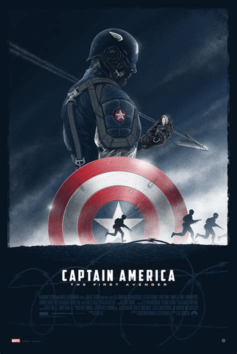 Baju Print Avenger Captain America captain america the avenger poster