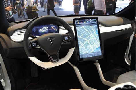 tesla model x electric crossover new interior detroit