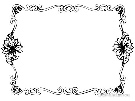border designs coloring pages free printable page border designs jos gandos coloring