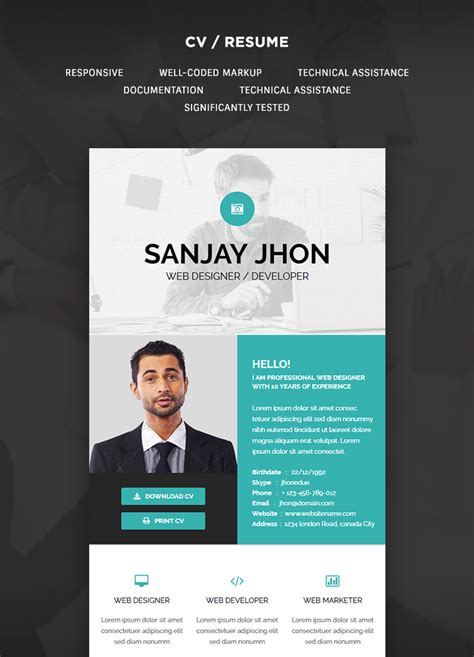 Resume Email Template by Cv Resume Email Template Buy Premium Cv Resume Email