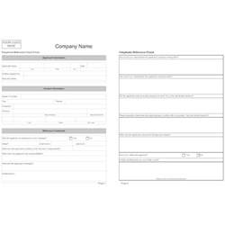 employment reference check form template telephone reference check form