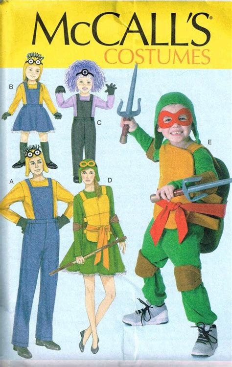 pattern for ninja turtle costume 89 best children halloween costumes sewing patterns images