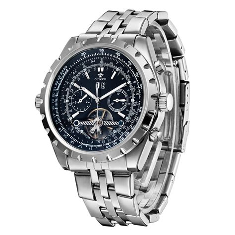 Jam Tangan Automatic Pria Rolex ouyawei jam tangan luxury pria oyw1032c black
