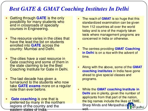 Top Mba Coaching Institutes In Delhi by Computer Coaching Institute In Delhi