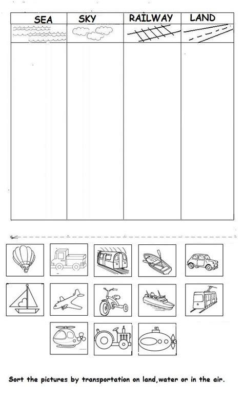 free printable preschool transportation worksheets 25 best ideas about transportation activities on