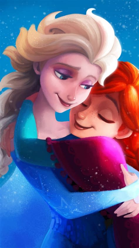 frozen sisters elsa anna  wallpapers hd wallpapers