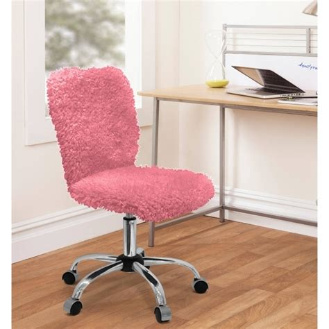 pink furry desk chair workspace leather chairs pink girls office chair image 83