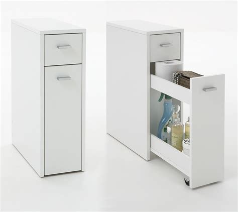 bathroom storage cabinet with drawers quot denia quot genius slimline bathroom kitchen slide out