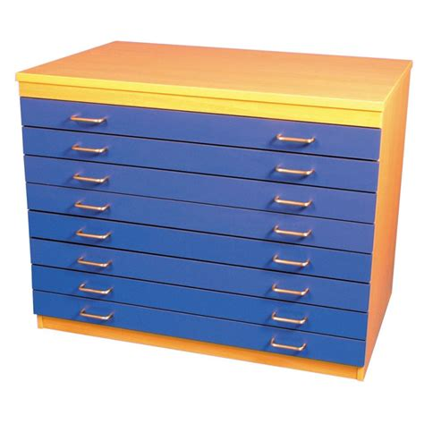 a1 paper storage unit 8 coloured drawers