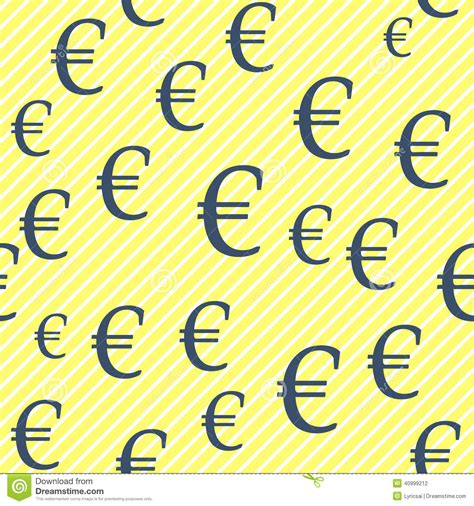 seamless european pattern euro pattern stock vector image 40999212