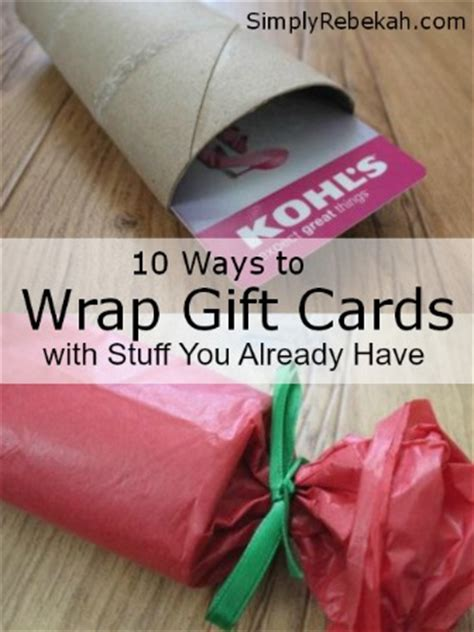 Cool Ways To Wrap A Gift Card - how to wrap gift cards with stuff you already have