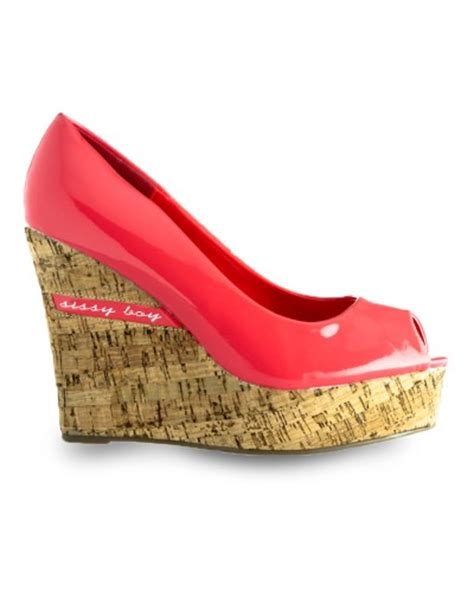 shoes coral cork wedge shoes from sissy boy size 7
