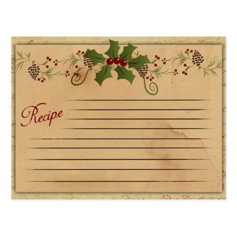 vintage recipe card template recipe card template www imgkid the