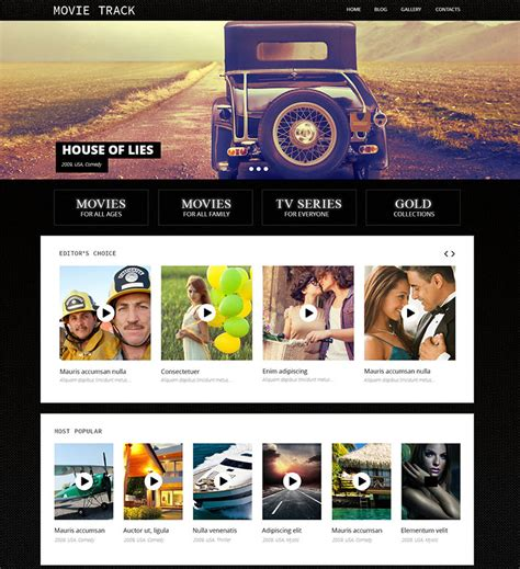 bootstrap templates for movies 20 coolest movie templates web template customization