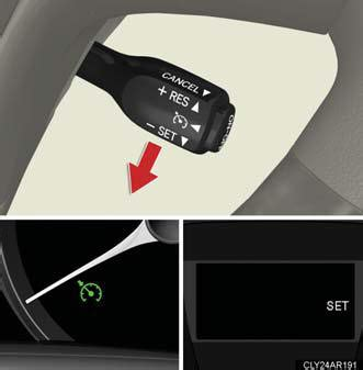 Lever Push Rx King Set cruise using other driving systems when