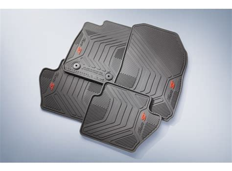 official rubber st floor mats all weather thermoplastic 4 black for