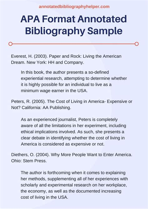 apa biography format 7 best annotated bibliography ideas images on pinterest