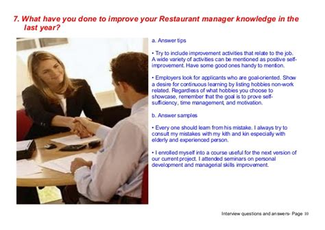 Restaurant Manager Questions by Top 7 Restaurant Manager Questions Answers